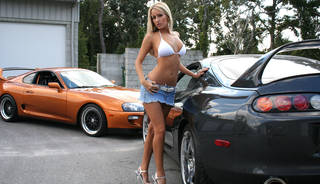 hot blondes in mini skirts