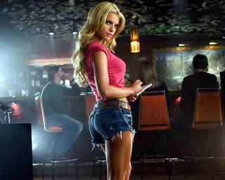 Jessica Simpson. Foto delle cameriere ragazza